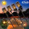 4Pack Solar LED Torch Garden Yard Flame Flickering Lamp Walkway Light Waterproof