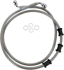 Drag Specialties Extended Brake lines 51 3/4in. Clear 1741-2845