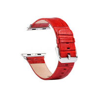 Crocodile Genuine Leather Wrist Watch Strap Replace For Apple Watch Band  USA