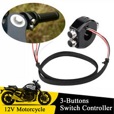 "1"" CNC Motorcycle Handlebar Switch Fog Lamp ON OFF Start Kill Horn Reset Button"