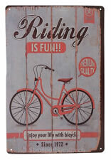 Bicycle Bike Ride Funny Tin Sign Bar Pub Garage Home Art Wall Decor Poster Retro