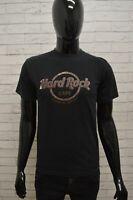 Maglia HARD ROCK Uomo Taglia Size S Maglietta Shirt Manica Corta Cotone Nero