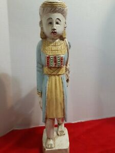 Antique Burmese Carved Wooden Statue - 19 Inches tall