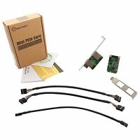 Syba 193489 Accessory Si-mpe24046 Mini Pci-express 2-port Gigabit Ethernet Card