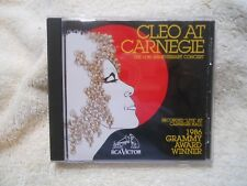 Cleo at Carnegie: 10th Ann. Concert by Cleo Laine (CD, 1993)*LIKE NEW*  GENUINE