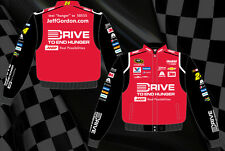 Jeff Gordon Nascar Jacket Drive To End Hunger Red Black Twill BLOWOUT