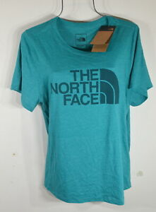 The North Face Women's T shirt 1X Half Dome Graphic tee Jade Green NWT