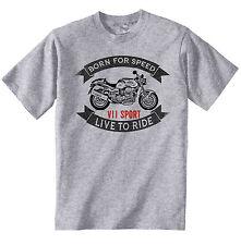 MOTO GUZZI V11 Sport-Nuovo T-Shirt grigio Cotone-Tutte le taglie in magazzino
