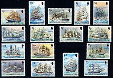 FALKLAND ISLANDS 1989 DEFINITIVES (SAILING SHIPS) SG567/582 MNH