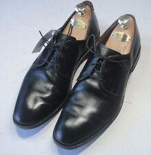 ALLEN EDMONDS Kenilworth Sz 10.5 D Black Plain Toe Bluchers Oxford Dress Shoes