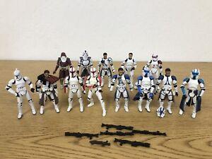 Hasbro Star Wars Lot Clone Troopers SAGA Legacy 3.75 Loose Action Figures