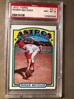 Roger Metzger 1972 Topps Baseball Card #217 PSA Graded NM-MT 8 Houston Astros