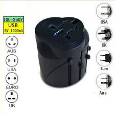 International Travel AC Adapter USB Power Plug Converter AU UK US EU Universal H