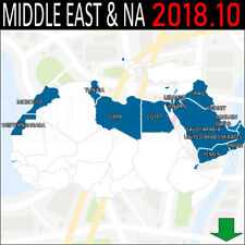 Middle East and North Africa NAVIGATION MAP GPS 2017.20 3D FOR GARMIN DEVICES