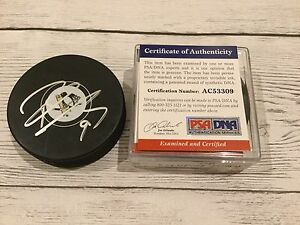 Pascal Dupuis Signed Pittsburgh Penguins Hockey Puck PSA/DNA COA Autographed a