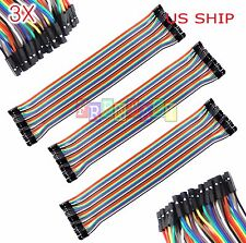 3X 40pcs 30cm 2.5mm Female to Female Dupont Wire Jumper Cable Arduino Breadboard