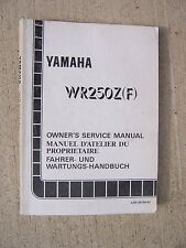 1993 Yamaha WR250Z(F) Motorcycle Owner Service Manual Racing Competition Bike  T