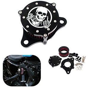 Skeleton Middle Finger Air Cleaner Intake Filter System For Sportster XL1200 883