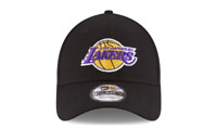 NEW ERA 9FORTY ADJUSTABLE HAT.  NBA.  LOS ANGELES LAKERS.  BLACK.