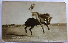 Rppc Idaho Id Jess Lawrence Bucking Horse Casey Rodeo Weiner Round Up C1918