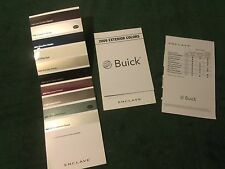 MINT 2009 BUICK ENCLAVE EXTERIOR COLORS CHART DEALER SALES BROCHURE (NH)