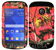 For Samsung Galaxy Ace Style S765c KoolKase Hybrid Cover Case - Camo Mossy Pink
