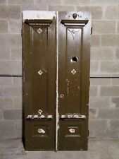 ~ Antique Oak Double Entrance French Doors ~ 40 x 85 ~ Architectural Salvage