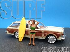 SURFER JODI FIGURE FOR 1:24 SCALE DIECAST MODEL CARS AMERICAN DIORAMA 23911