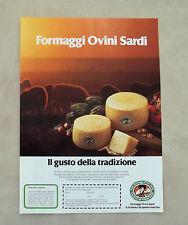 E904- Advertising Pubblicità -1986- FORMAGGI OVINI SARDI