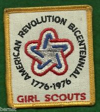 VINTAGE GIRL SCOUT - 1776 - 1976 GSUSA BICENTENNIAL PATCH - SOILED