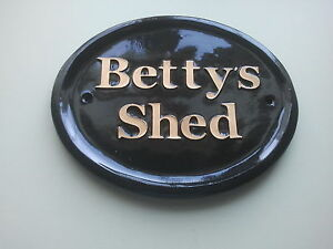 Personalised Shed Sign, Gate sign ,House Number ,Wall sign,
