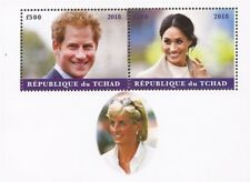 Chad - 2018 Prince Harry, Meghan, Diana - 4 Stamp Sheet - 3B-556