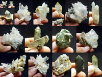 Natural Stunning Lot of Chlorite Quartz Crystals Specimens Pakistan 18Pcs 1.8kg