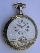 ANTIQUE HEBDOMAS 8 DAYS MEN'S POCKET WATCH SWISS 1900's