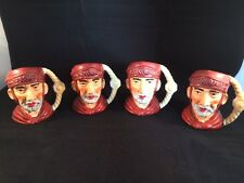 Vintage Roman Soldier Hand Painted Mugs Lot Set Of Four