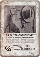 "Colt Single Action Frontier Scout Pistol 10"" x 7"" Reproduction Metal Sign"