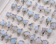 Natural Opal Stone Rings Fashion Jewelry Women's Ring  10pcs Free Shipping