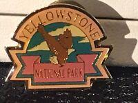VTG Enamel Metal Lapel Hat Pin Travel Souvenir Yellowstone National Park Eagle