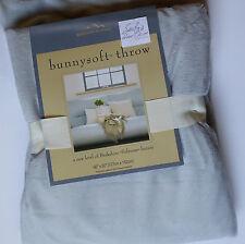 Berkshire BUNNYSOFT Ultra Plush THROW BLANKET 50x60 SILVER GRAY fleece Soft NEW
