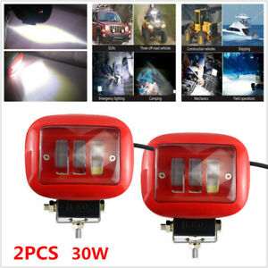 2pcs Car Square Working Light LED 6000K Truck Marine Spotlight Dock Lamp 12V-80V