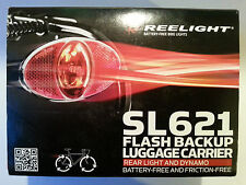 New Reelight SL621 flash backup luggage carrier rear bike bicycle light & dynamo