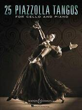 25 Piazzolla Tangos for Cello and Piano by Boosey & Hawkes Inc (Paperback /...