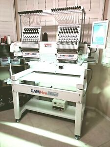 Slightly Used Cam Five Commercial Embroidery Machine Model HT1502