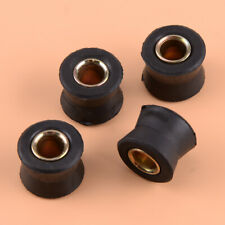 4pcs 10mm Rubber Motorcycle Bike Rear Shock Absorber Bush Spare Part Replacement
