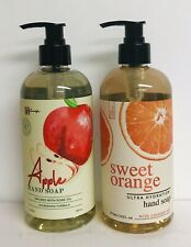 Sweet Orange with Coconut Oil & Apple with Rose Oil Hand Soap 16 fl oz Each