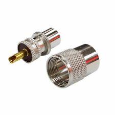 10pcs PL259 Connecteur à Soudes avec Réducteur pour Câble Coaxial RG8U RG58-3