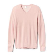 GAP Men's Pink Textured V-Neck Pullover Sweater Size L