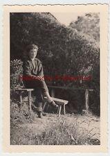 """(F10570) Orig. Foto Lebus / Oder, junge Frau im Freien """"morgens um 5"""" 1939"""