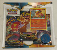 Pokemon Darkness Ablaze Triple Pack Blister | Flareon | Sword and Shield TCG