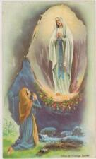 IMAGE PIEUSE-/hHOLY CARD SANTINI/PETITE IMAGE BON POINT/N.DAME DE LOURDES/GROTTE